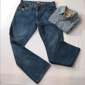 GAP 1969 Boot Cut Dark Wash Jeans 5-Pocket 29/30